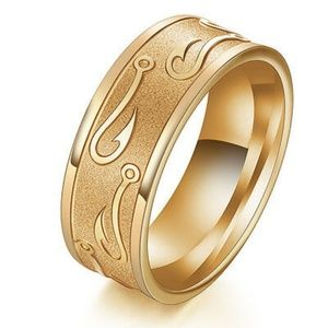 Nautical themed ring gold sizes 11 and 12.5